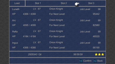 FF3 SaveFile - All Jobs Lv99 and 100 Percent Bestiary