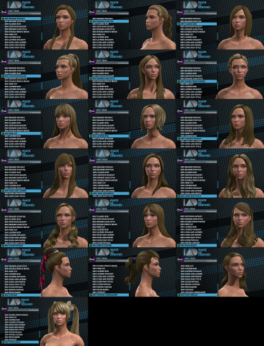 SR4 Hairstyles for SR3