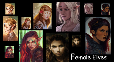 Female Elves Small Portrait Pack