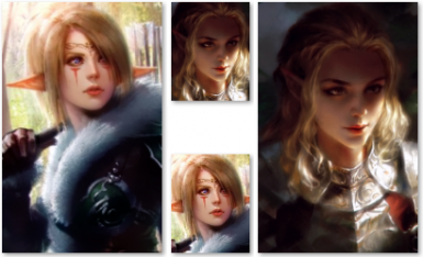 Two elven female portraits