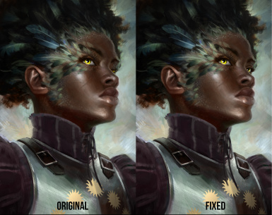 Pallegina's portrait fix