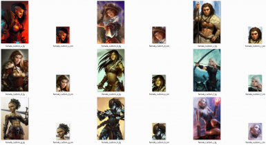 Female Custom Portraits Pack - 26 portraits