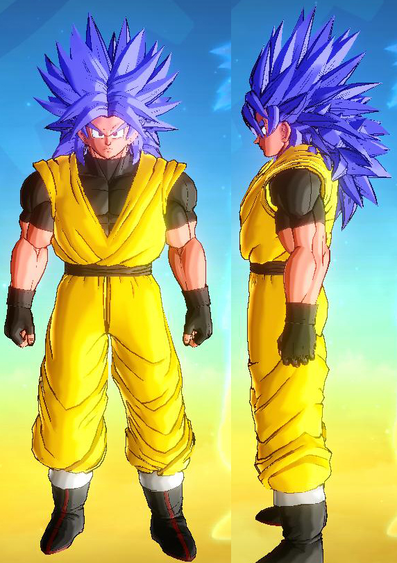 Hairstyles Xenoverse : Super Saiyan 4 Broly Cac Hair At Dragon Ball Xenoverse Nexus Modunity