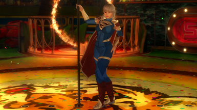 Ayane with Injustice 2 Supergirl's Outfit