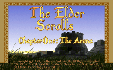 TES Arena Title Screen Fix