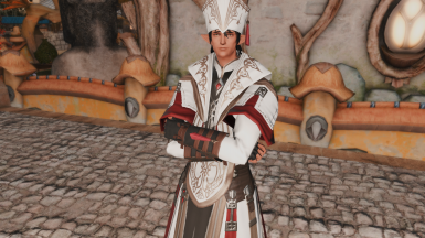 Bag-Less Halonic Exorcist's Robe and Halonic Priest's Alb