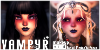 Vapyr Catte F (All F Miqo'te Faces)