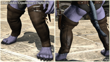 Dhalmelskin and Expeditioner's Thighboots (Anatomically Correct hrBody)