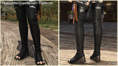 Dhalmelskin and Expeditioner's Thighboots (The New Viera Feet)