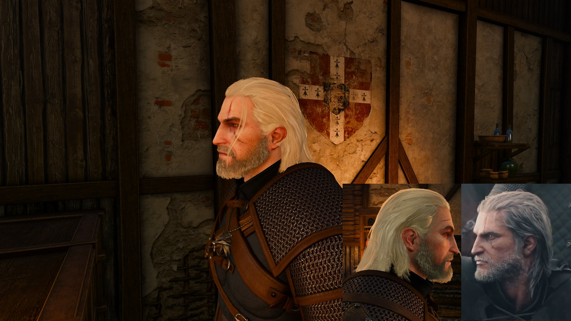 Witcher 3 Hair Styles: Long Tucked Hair Reworked At The Witcher 3 Nexus