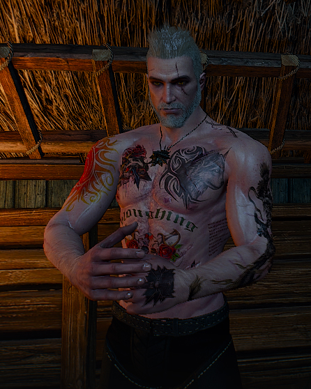 Witcher 3 Tattoo: Geralt Upperbody Tattoo At The Witcher 3 Nexus