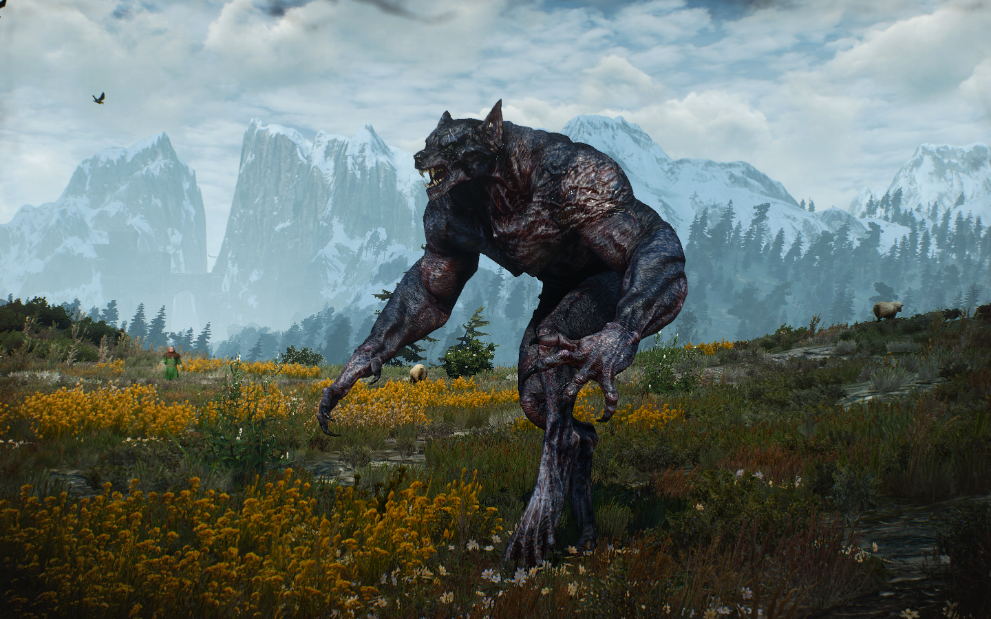 witcher 3 how to kill the werewolf