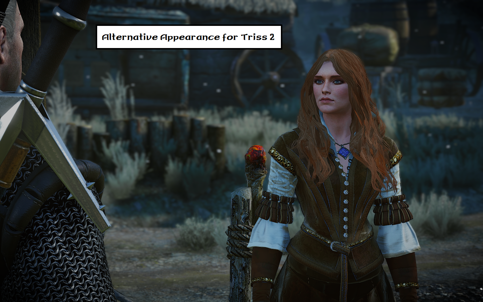 how to change triss outfit