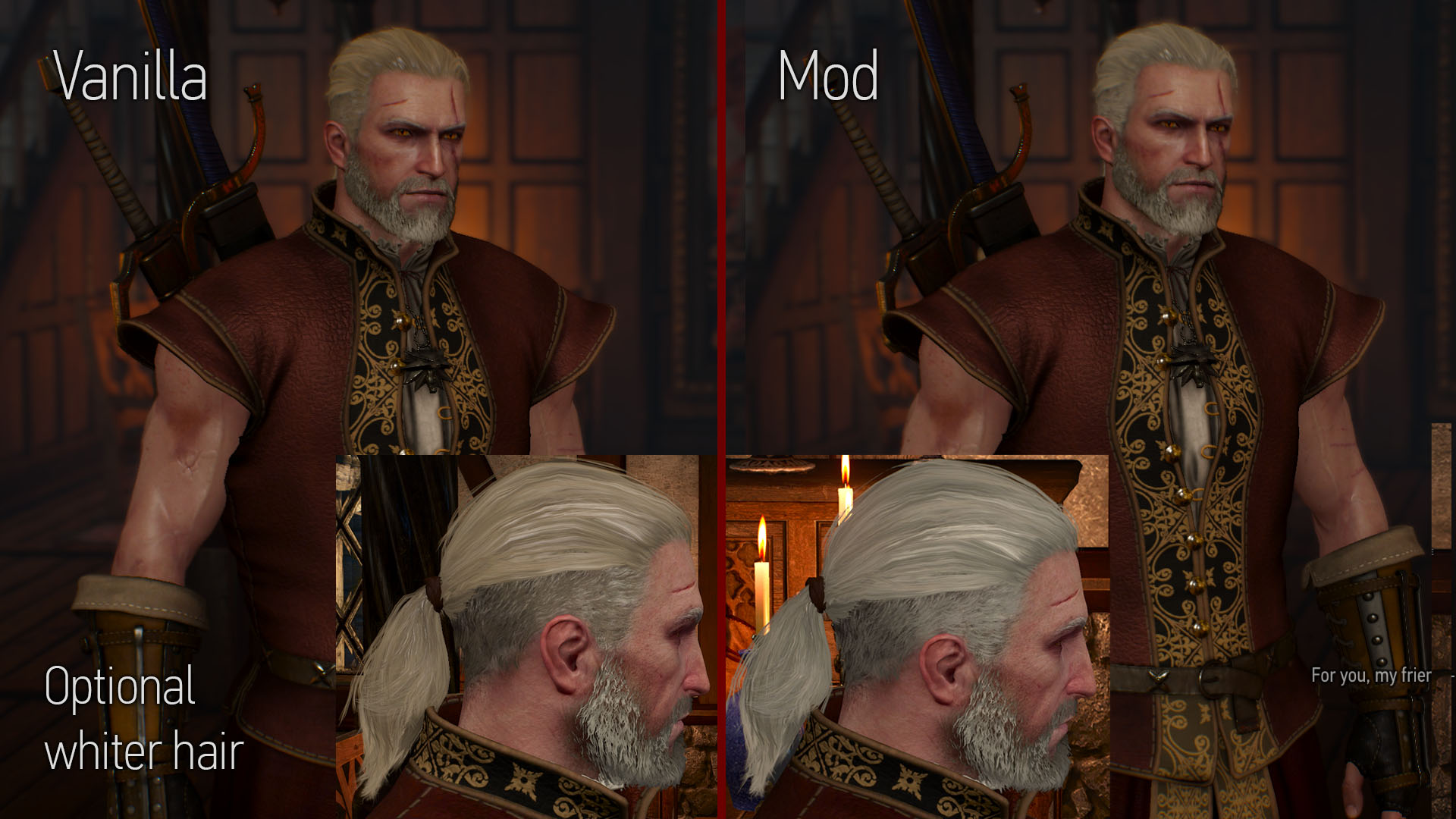 Make Geralt S Hair Look More White With A Mod Page 2