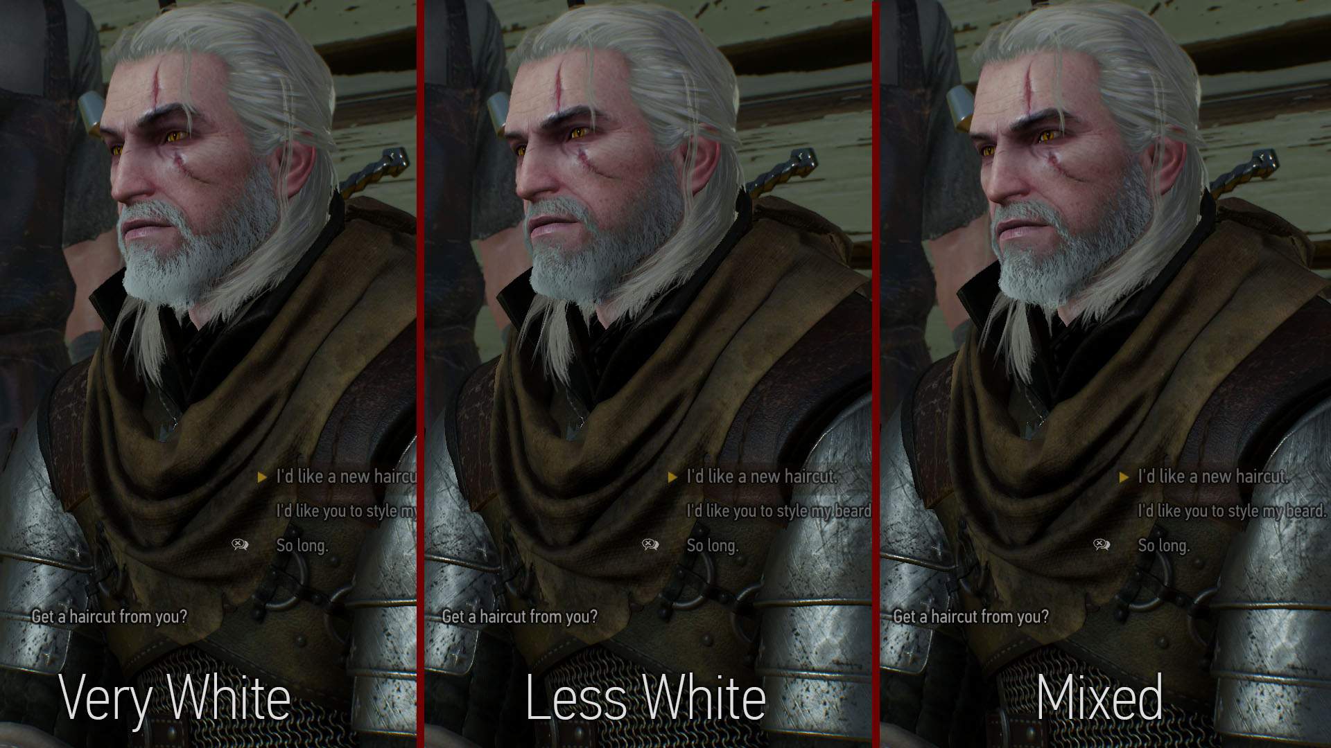 Witcher 3 Hair Styles: Geralt HairWorks Colors And Styles At The Witcher 3 Nexus