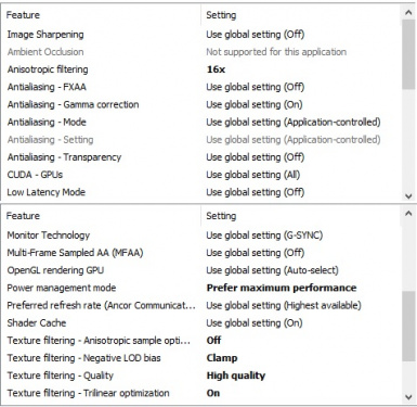 Nvidia Settings for HDRP just pay attention to the six settings with fat letters