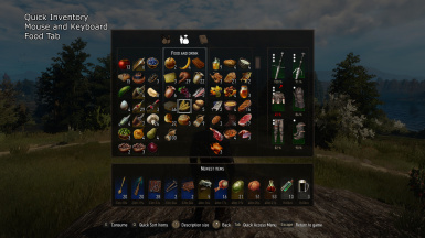 Quick Inventory - Food Tab