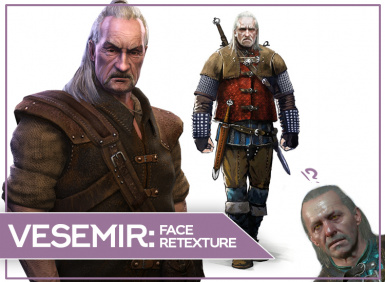 Original (TW1) Face for Vesemir