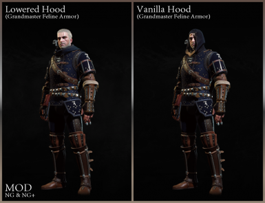Lowered Hood Feline and Standard Manticore - Grandmaster Armor Revision