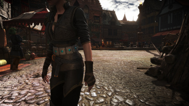 Ciri DLC outfit with corset and Yen DLC outfit with pants at The