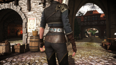 Ciri DLC outfit with corset and Yen DLC outfit with pants at