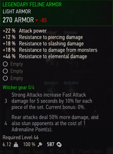 Set Bonuses For All Tiers of Witcher Gear