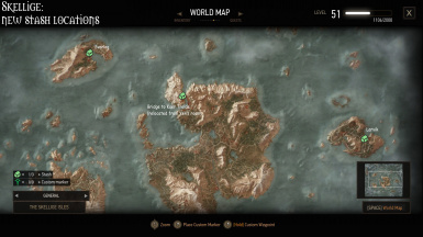 New stash locations - Skellige