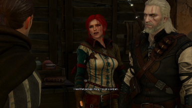 Triss with DLC hair
