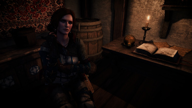 Triss with TW2 outfit - auburn hair 1