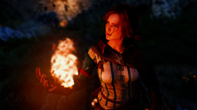 Triss with TW2 outfit - auburn hair 2