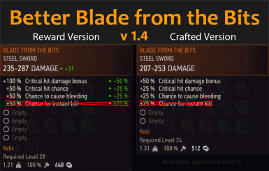 Better Blade from the Bits