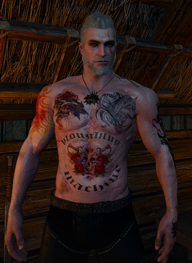 Geralt upperbody tattoo