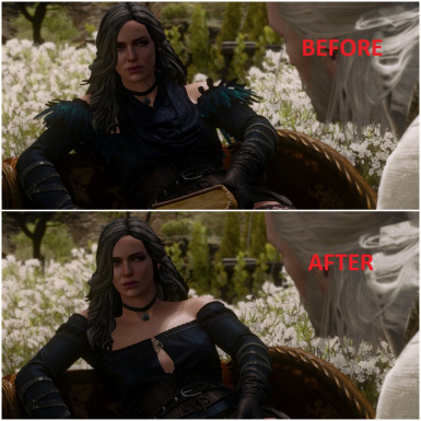 Yennefer DLC Dress without Scarf