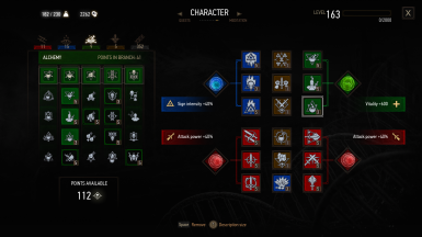 Extra Skill Slots and Mutations at The Witcher 3 Nexus