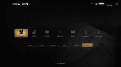 Stash menu access
