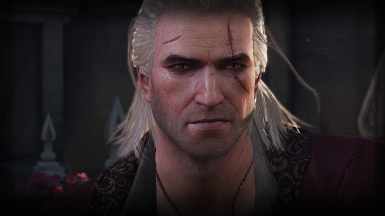 Geralt's face retexture. Striga scars and new effect from intoxication