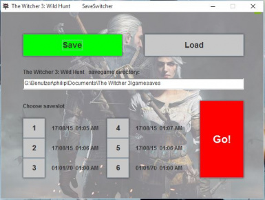 The Witcher 3 SaveSwitcher (Profile Manager)