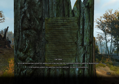 Floating Sign attached to a nearby tree stump, also check the stump