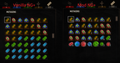 Fix Mutagen Stacking in New Game Plus