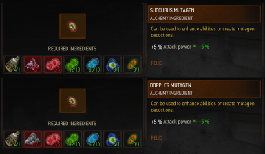 DR's Craft Your Own Rare Mutagens