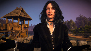 Lore friendly black and white dress for Yennefer