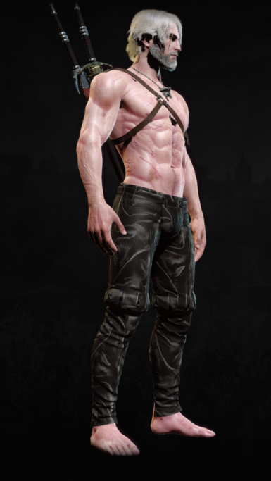Streaked Leather Retexture for Nilfgaardian Trousers