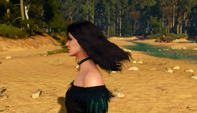 encoded hairworks: published yennefer example - in motion