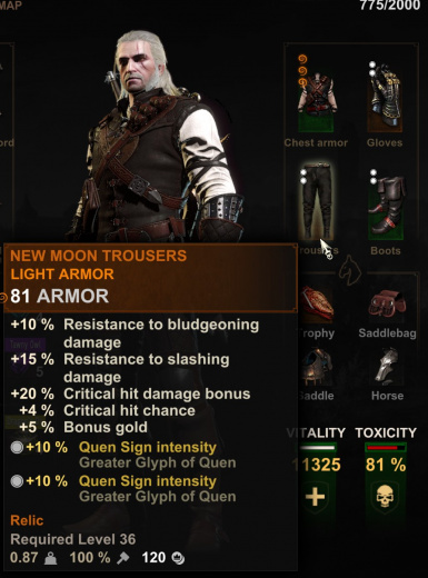 New Moon Trousers to Legendary Manticore Trousers