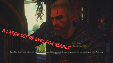 A large set of eyes for Geralt