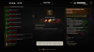 Crafting (Screenshot is with Ghost Mode)