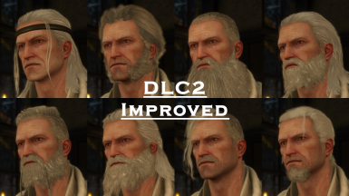 New Hairstyles and Beards For Geralt (DLC2 Improved)