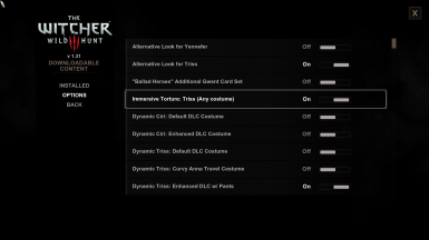 Sample toggles of a bunch of DLC-style mods