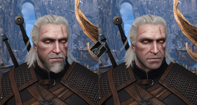 If you have a custom beard style, Geralt will get automatically clean shaved