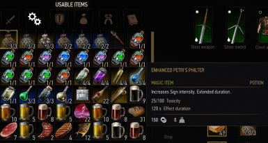 Potions and decoctions small duration tweak at The Witcher 3